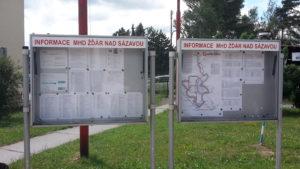 Informační nástěnky MHD
